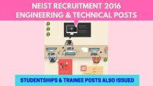 NEIST Recruitment 2016