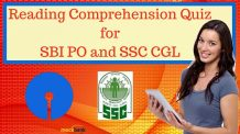 Reading Comprehension Quiz for SBI PO and SSC CGL