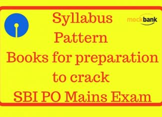 SBI PO Syllabus Pattern Books for preparation to crack the SBI PO Mains Exam