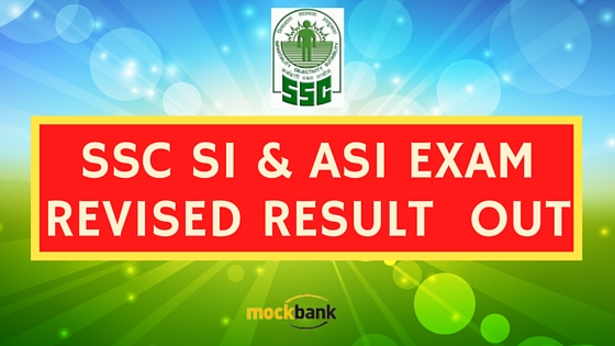 SSC CAPF SI ASI Result : Revised List Out