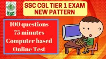 SSC CGL Tier 1 Syllabus and Pattern
