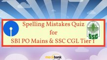 Spelling Mistakes Quiz for SBI PO Mains and SSC CGL Tier 1 Exam