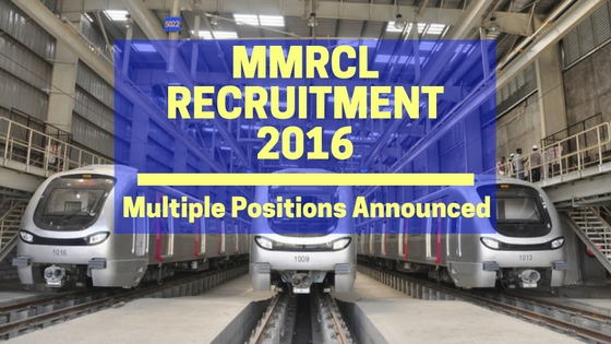 MMRCL Recruitment 2016