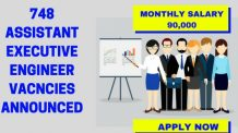 748 Assistant Executive Engineer Vacancies