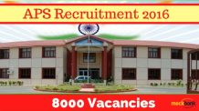 Army Public School Recruitment 2016