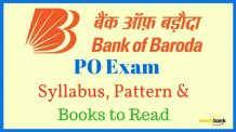 Bank of Baroda Manipal PO Syllabus Pattern Books