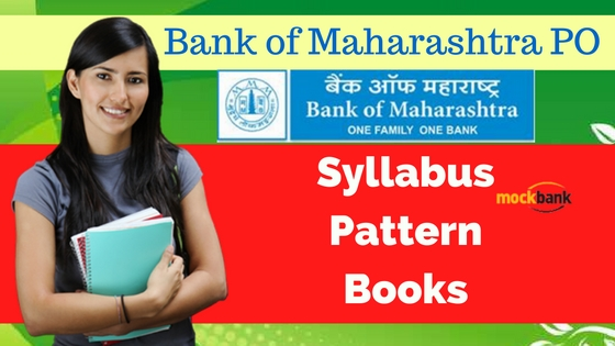 Bank of Maharashtra PO Syllabus Pattern Books