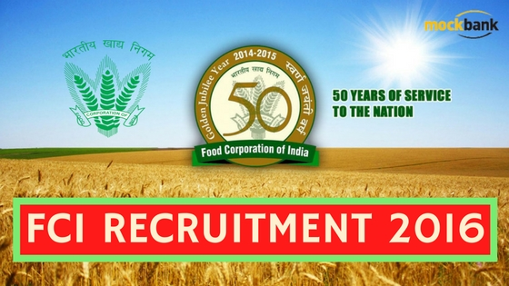 FCI RECRUITMENT 2016