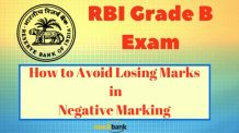 How to Avoid Losing Marks in Negative in RBI Grade B Exam