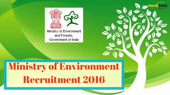 Ministry of Environment Recruitment 2016