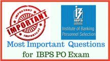 Most Important Questions for IBPS PO Exam