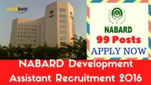 NABARD Development Assistant Recruitment Notification 2016
