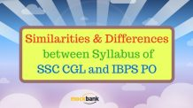 Similarities & Differences between Syllabus of SSC CGL and IBPS PO