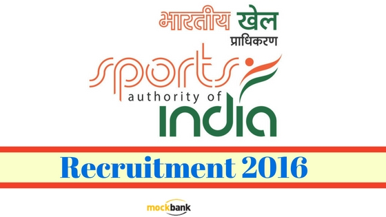 Sports Authority of India Recruitment 2016
