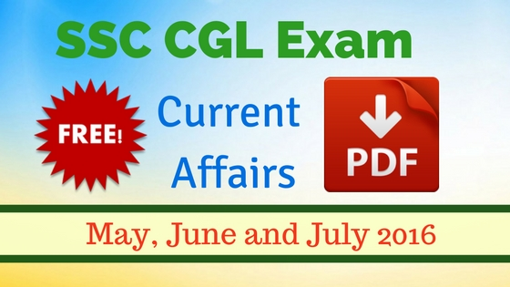 Current Affairs pdf for SSC CGL Tier 1 Exam