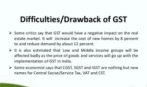 GST bill drawbacks