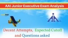 AAI Junior Executive Exam Analysis, Decent Attempts and Expected Cutoff.