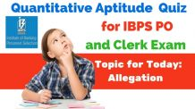 Allegation Questions for IBPS PO , BOB and RBI Grade B