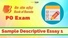 Bank of Baroda PO Exam Sample Descriptive Essay 1