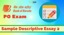 Bank of Baroda PO Exam Sample Descriptive Essay 2