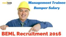 BEML Recruitment 2016 for Engineers with Bumper Salary