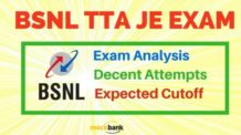 BSNL JE Exam Analysis, Decent Attempts and Expected Cutoff