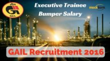 GAIL Recruitment 2016 for Engineers with Bumper Salary