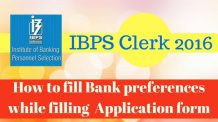 How to fill Bank preferences in IBPS CLERK 2016