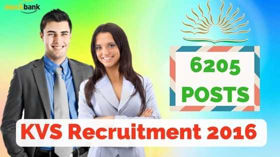 KVS Recruitment 2016