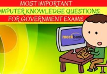 Important Computer Knowledge Questions