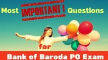 Most Important Questions for Bank of Baroda PO Exam