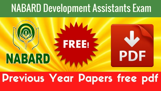NABARD Development Assistants Previous Year Papers