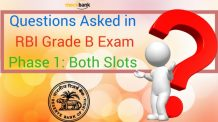 Questions Asked in RBI Grade B Exam 2016