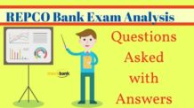Repco Bank Exam Analysis and Questions Asked in Exam