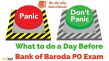 What to do a Day Before Bank of Baroda PO Exam.