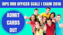 IBPS RRB Officer Scale 1 Admit Cards