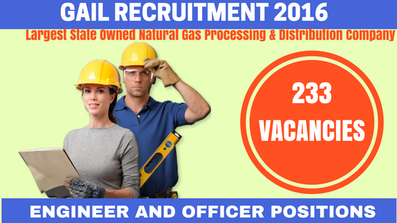 GAIL Recruitment 2016