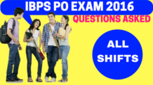 IBPS PO 2016 Questions Asked