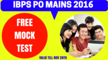 IBPS PO Mains FREE Mock Test