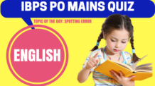 IBPS PO Mains Exam Quiz English
