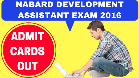 nabard development assistant admit cards