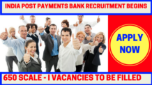 India Post Payment Bank Recruitment