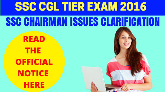 SSC CGL Tier 1 Exam 2016