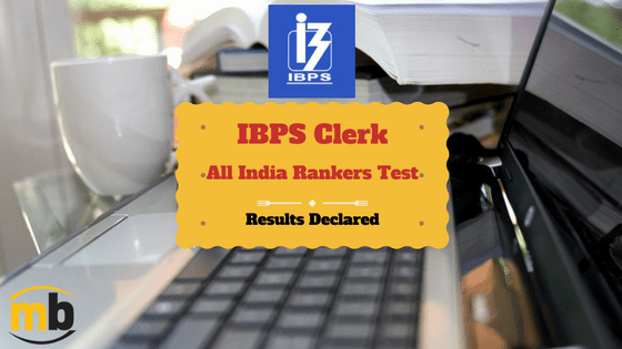 IBPS Clerk All India Rankers Test