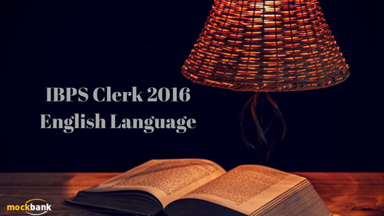 English section of IBPS Clerk