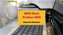 Most Important Questions for IBPS CLERK Exam