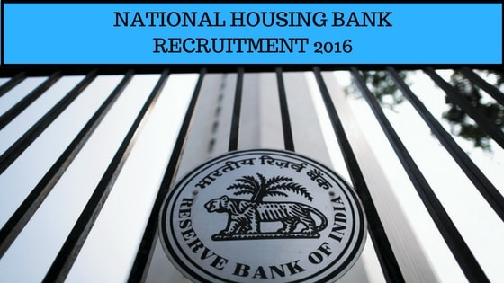 National Housing Bank Recruitment 2016