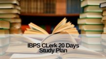 IBPS Clerk 20 days Study Plan