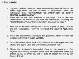 How to apply for Union Bank of India