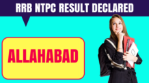 RRB NTPC Allahabad Result